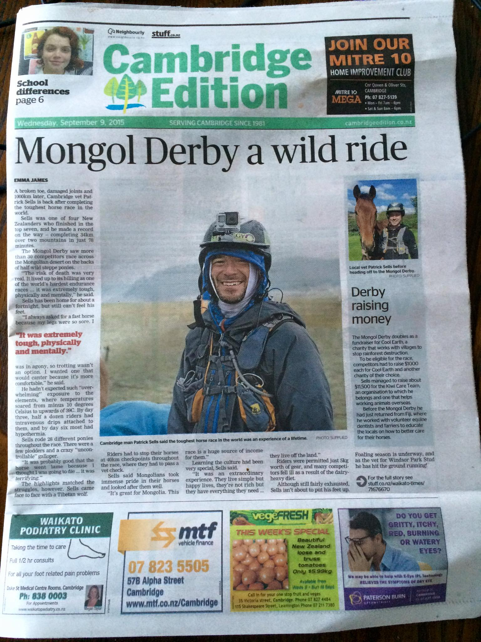 Patrick Sells on Mongol Derby 2015 photo by Saskia Marloh My photographic work in press & media worldwide