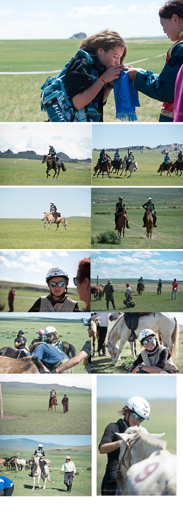 Elise Poitrinal, second winner of the Mongol Derby 2015 photos by Saskia Marloh