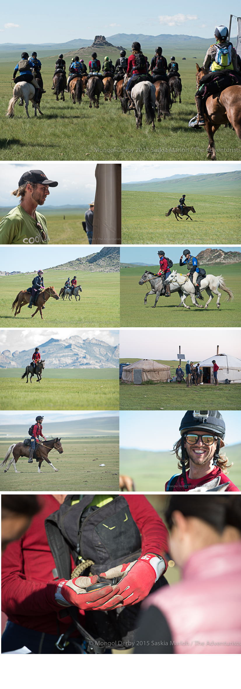 Ben Wilks, place 3 of the Mongol Derby 2015 photos by Saskia Marloh