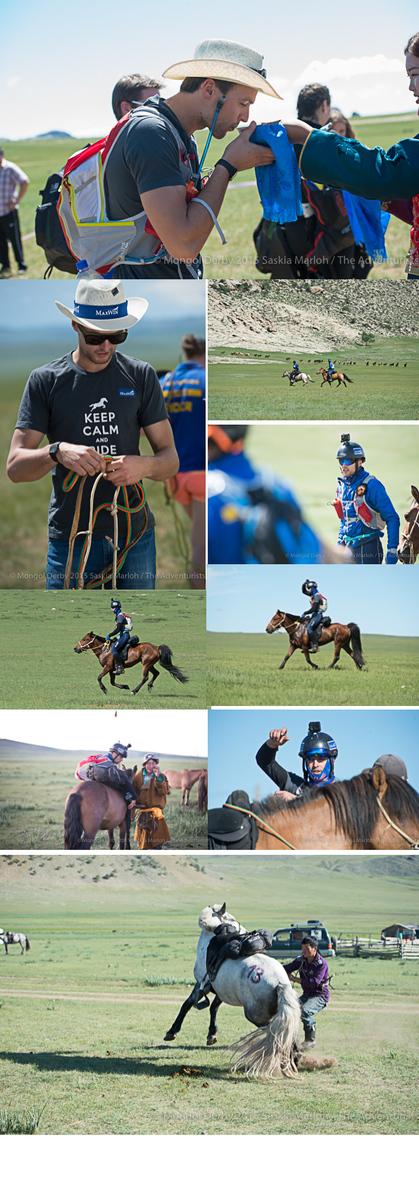 Maxim Van Lierde, place 3 of the Mongol Derby 2015 photos by Saskia Marloh