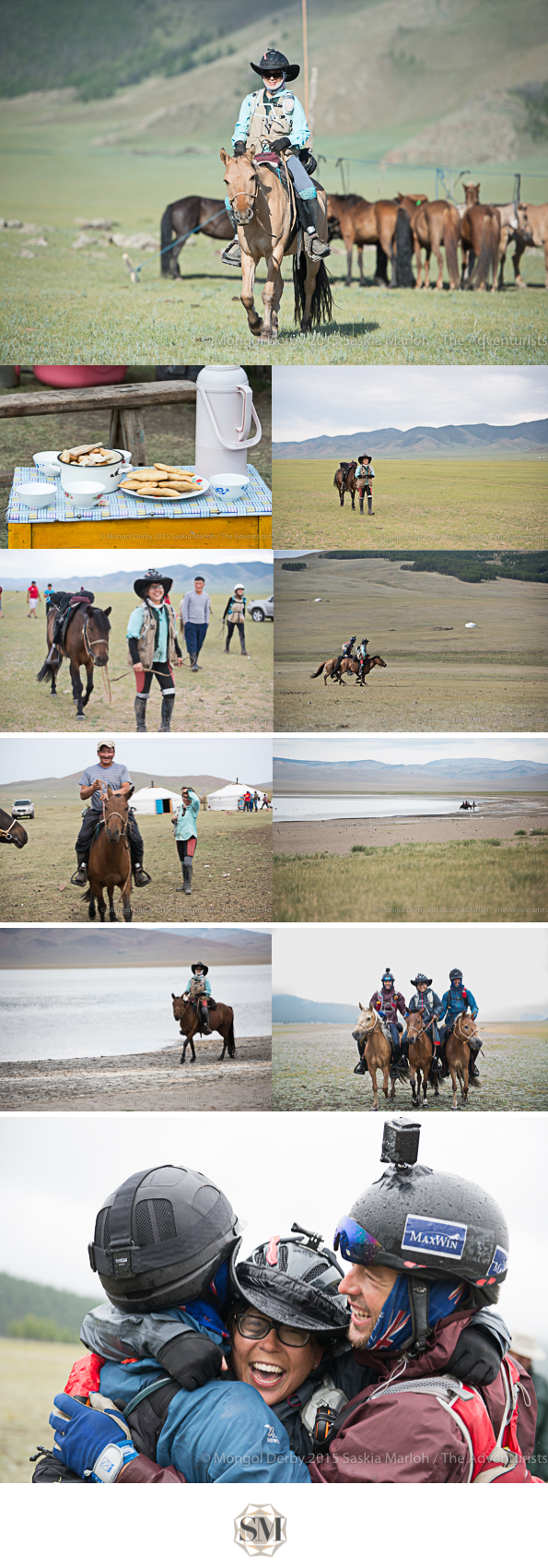 Michelle Tanaka, place 3 of the Mongol Derby 2015 photos by Saskia Marloh