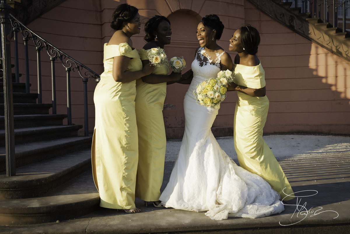 Brides at the Biebricher Schloss. African-wedding-reception-club-eleganz-mainz-Germany